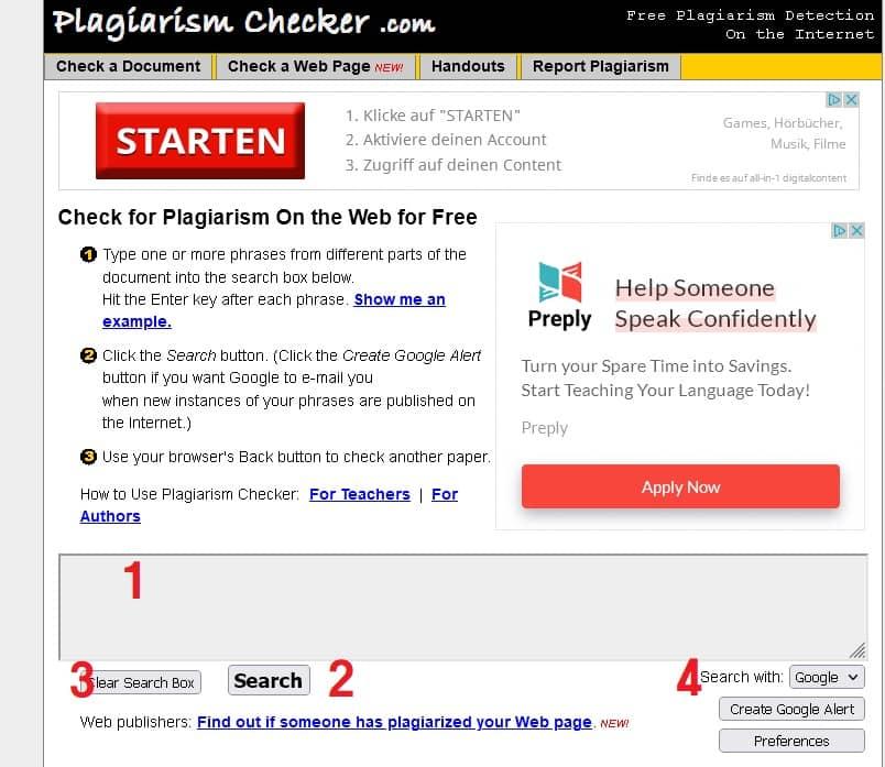 سایت plagiarismchecker